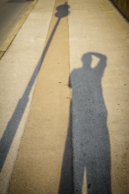 Jedna na dan, 30, septembar 2012: Autoportret sa uličnom svetiljkom
