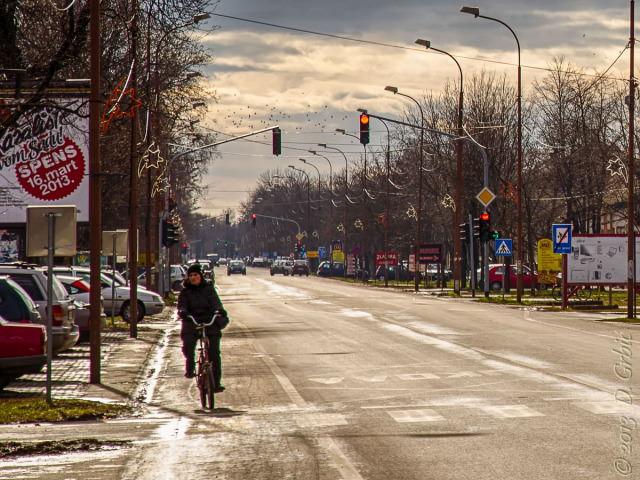 Jedna na dan, 23. februar 2013: Pogled niz ulicu po čudnom svetlu