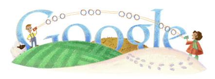 Google u slavu Mihajla I. Pupina (1854 - 1935)