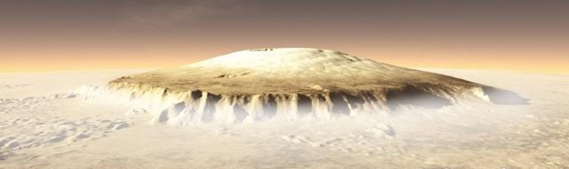 Olimpus Mons, Planina na Marsu, visoka 100 km