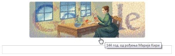 Google u slavu Marije Sklodovske Kiri