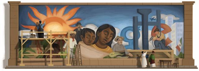 Google u čast Dijega Rivere (1886 - 1957)
