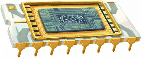 Google Doodle: Robert Noyce (1927-1990)