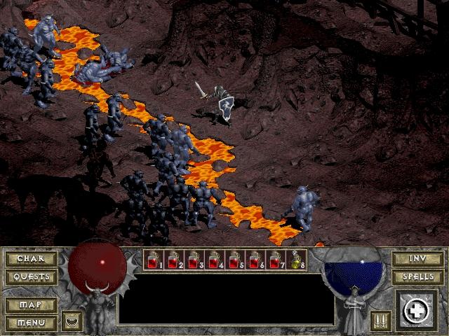 Odmeravanje preko obala reke lave: Diablo