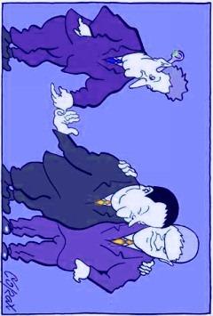 Karikatura Predraga Koraksića je ukradena bez dozvole, a tek menjana bez dozvole. Rečju, učinio sam manje-više sve ono što nisam smeo. To me čini prilično posebnim, zar ne? Ne. Još je Gebels to radio.
