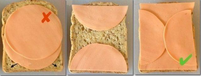 Kako preklopiti salamu na sendviču