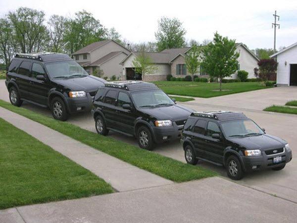 Koliko puta je zadnji džip veći od prednjeg?