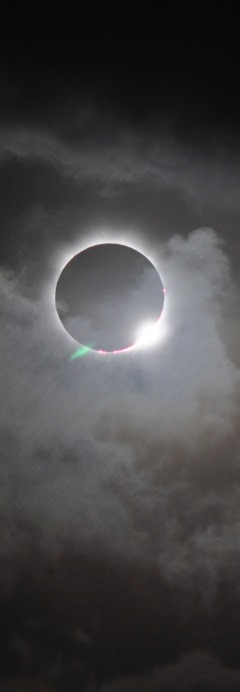 ...but the Sun is eclipsed by the Moon.