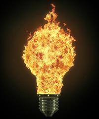 90% energije ode u grejanje....