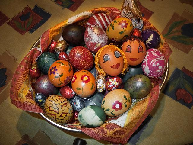 Korpa šarenih jaja, ikonografija Vaskrsa