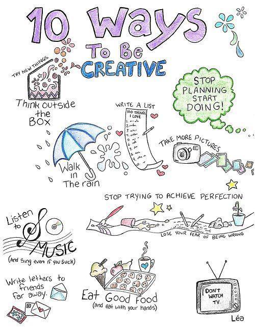 Deset dobrih saveta o kreativnosti.